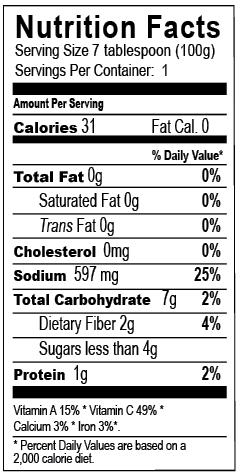 Does ketchup have calories