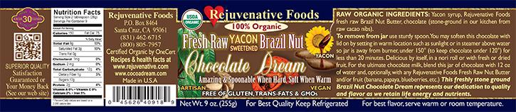  Stone Ground  in our kitchen Organic label Pure Fresh Dairy Free Raw Brazil Nut Chocolate Dream Yacon Sweetened GMO Free Antioxidants Cardiovascular Benefits 